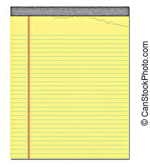 yellow notepad - nice image of a yellow notepad with a page...