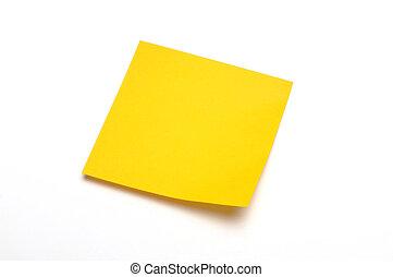 notepaper - yellow notepaper