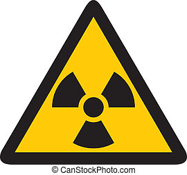 yellow nuclear sign, symbol of radiation