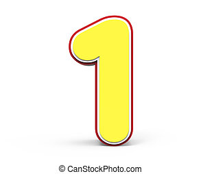 yellow number 1