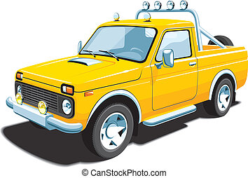 Yellow off-road vehicle