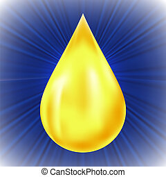 Yellow Oil Drop