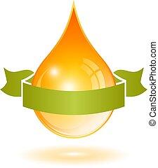 Yellow oil drop vector cartoon