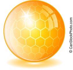 Yellow oil pill vector illustration