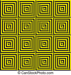 Yellow on black and black on yellow abstract seamless zig zag