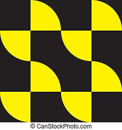 yellow on black decor element arabesque
