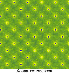Yellow on Green Explosion tiled