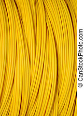 yellow optical cable