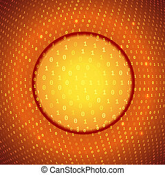 Yellow Orange Abstract Binary Background