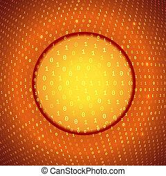 Yellow Orange Abstract Binary Background