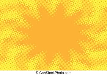 Yellow orange abstract pop art retro comic background