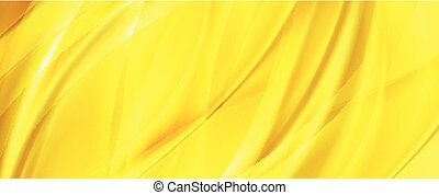 Yellow orange abstract smooth waves background