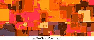 yellow orange brown pink painting