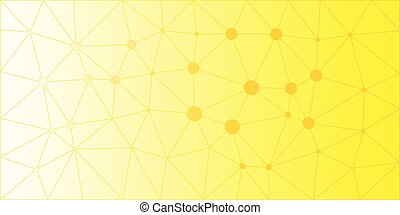 Yellow Orange Low Poly Vector Background
