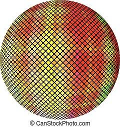 yellow-orange, pelota, mosaico