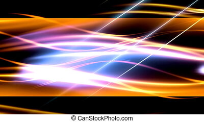 Yellow orange plasma abstract loop