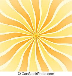 Yellow orange sun rays swirl on square format - Yellow...
