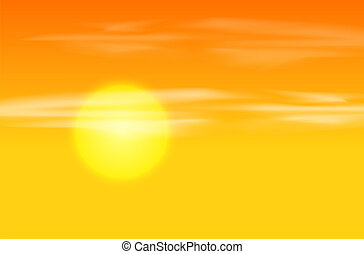 Yellow orange sunset background