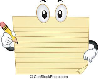Yellow Pad Mascot