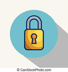 Yellow padlock icon.