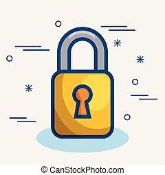 Yellow padlock icon
