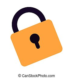 yellow padlock icon
