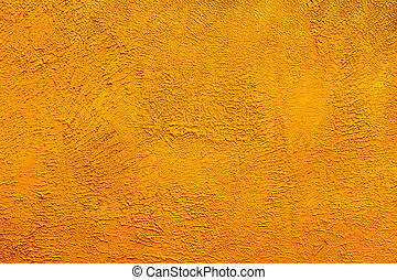 Yellow painted brick wall as background, texture