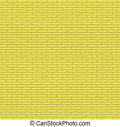 Yellow painted brick wall seamless texture