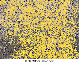 Yellow painted road surface