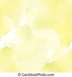 Yellow pale watercolor seamless pattern for background. Vector illustration.