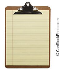 Yellow Paper and Clipboard