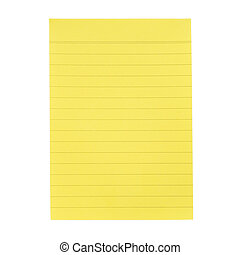 Yellow paper for notes - Yellow lined paper for notes...