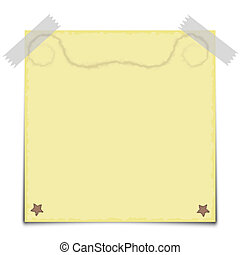 Yellow Paper Note Vector