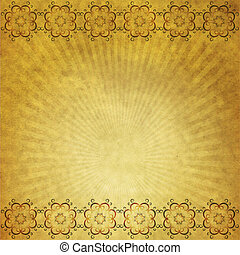 Yellow paper with ornament