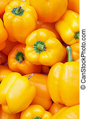 Yellow paprika - Bunch of fresh vivid yellow paprika...
