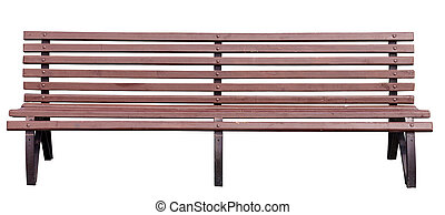 park bench - yellow park bench . Isolated over white...