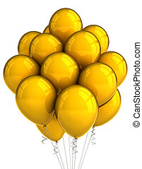 Yellow party ballooons