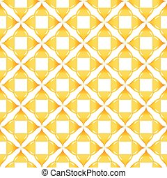 Yellow patterns on white background. Seamless pattern. Abstract vector.