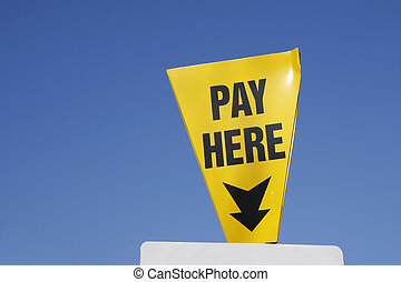 Pay Here sign