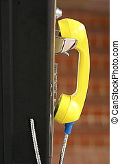 Yellow pay phone