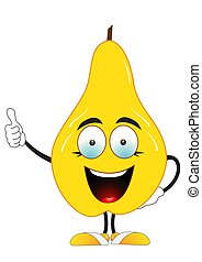 Yellow pear says super