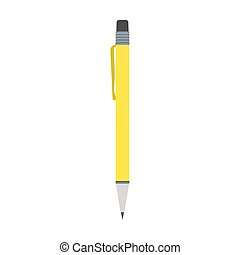 Yellow pen vector flat illustration design isolated on white background