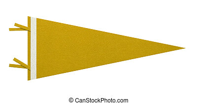 Yellow Penant - Felt Penant with Copy Space Isolated on...