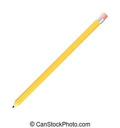 yellow pencil icon stock