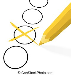 yellow pencil with cross
