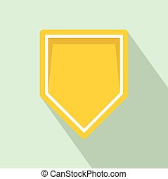 Yellow pennant icon, flat style