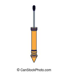 yellow pichkari icon, flat design