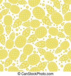 yellow pineapple seamless pattern