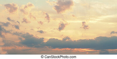 yellow pink clouds sky background