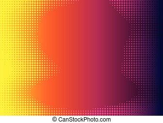 yellow pink dot halftone gradient background